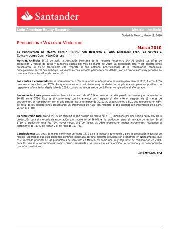 Latin American Equity Research México – Análisis - Santander