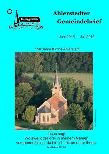Ahlerstedter Gemeindebrief