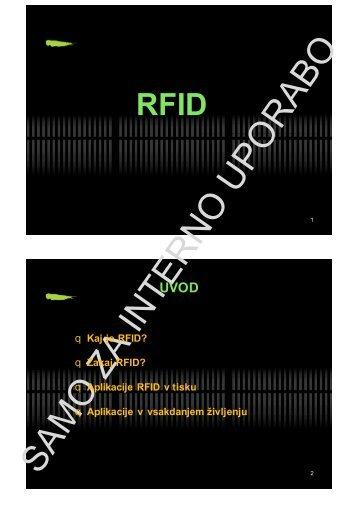 Kaj je RFID?
