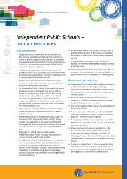 Independent Public Schools - Human Resources Fact Sheet