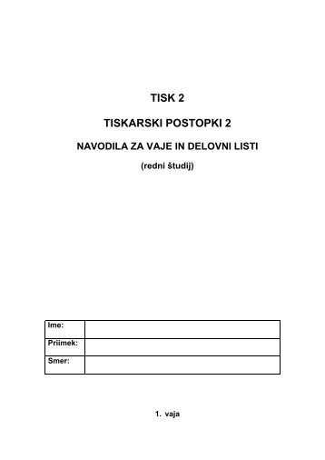 TISK 2 TISKARSKI POSTOPKI 2