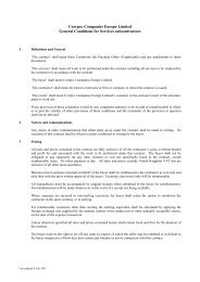 Standard Terms and Conditions: Purchases - Services - Corrpro ...