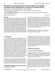 Permanent-soil monitoring sites for ... - Universität Kassel