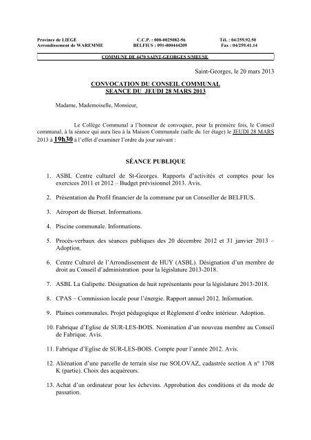 Ordre Du Jour Cc28032013 Pdf Saint Georges Sur Meuse