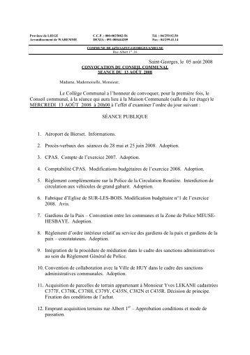 CONSEIL 13 AOÛT 08.pdf - Saint-Georges-sur-Meuse