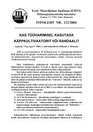Eesti Maaviljeluse Instituut (EMVI)