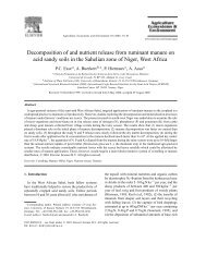 Decomposition of and nutrient release from ruminant manure ... - Elmu