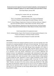 1 Social and economic aspects of crop and livestock husbandry, and ...