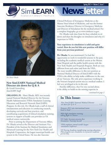 SimLEARN Newsletter Spring 2011 - Volume 2 Issue 1