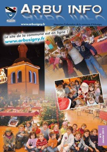 Arbu Infos 8 - Accueil - Commune d'Arbusigny