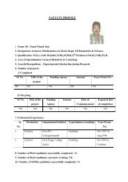 FACULTY PROFILE - Engineering College Ajmer
