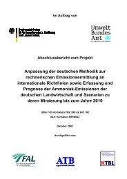 Im Auftrag von Abschlussbericht zum Projekt Anpassung der - BLE