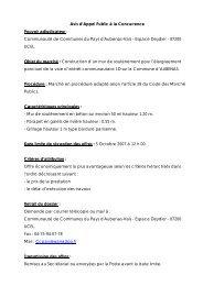 Avis d'Appel Public à la Concurrence Pouvoir adjudicateur ...