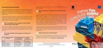 Programul Phare - Coeziune Economica si Sociala