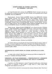 07/06/2013 : Télécharger le compte rendu - Ville de Capbreton