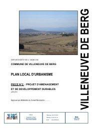 03 - PADD - Villeneuve de Berg