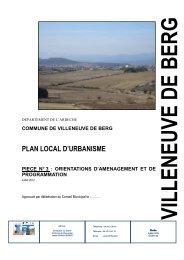 OAP - Villeneuve de Berg