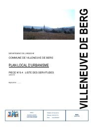 6.4 - Liste des Servitudes - Villeneuve de Berg
