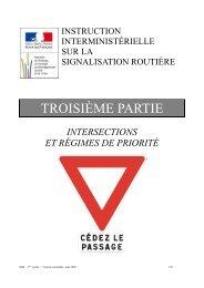 Troisième partie : Intersections et régime de priotité - widling