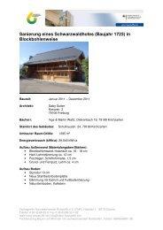 Sanierung eines Schwarzwaldhofes (Baujahr ... - Bauen und Wohnen