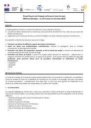 Année 2012-2013 - École d'architecture de la ville & des territoires à ...