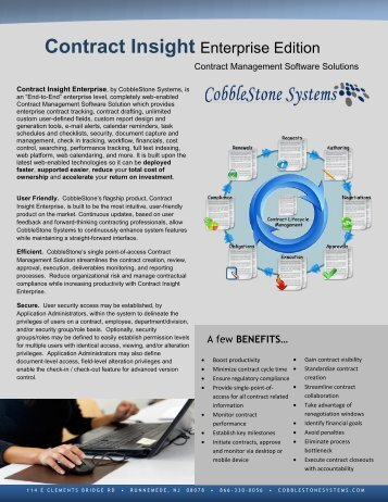 System Overview - CobbleStone Systems Corp.