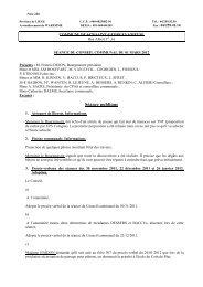 PV Conseil Communal 01 mars 2012 - Saint-Georges-sur-Meuse