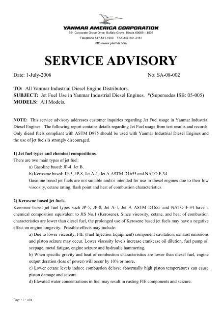 SA-08-002, Jet Fuel Advisory pdf - Mastry Engine Center