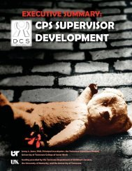 cps supervisor development - Social Work Office of Research and ...