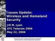 Download Presentation - Utilities Telecom Council