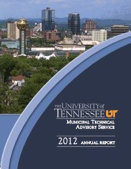 2012 ANNUAL REPORT - MTAS - The University of Tennessee