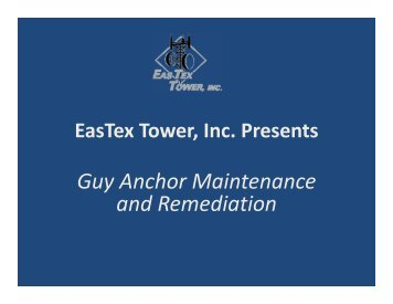 Guy Anchor Maintenance and Remediation
