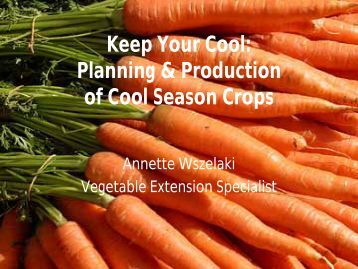Keep Your Cool - UT Organic Crop Production