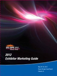 2012 Exhibitor Marketing Guide - utc telecom 2012 wrap up!