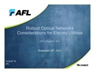 Robust Optical Networks Considerations for Electric Utilities