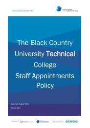 Staff Appointments Policy - Black Country University Technical College