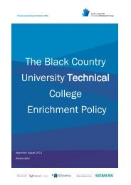 The Black Country University Technical College Enrichment Policy
