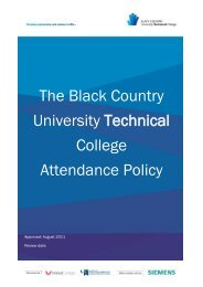 The Black Country University Technical College Attendance Policy