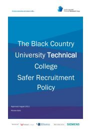 Safer Recruitment Policy - Black Country University Technical College