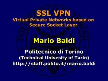 SSL VPN Virtual Private Networks based on Secure Socket Layer
