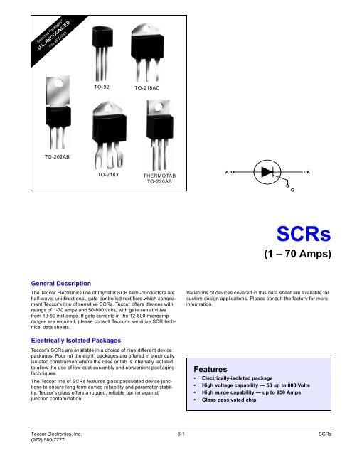 TECCOR  S4055W SCR