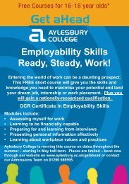 Ready, Steady, Work! - Aylesbury College