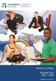 Aylesbury College Strategic Plan 2011 – 2020