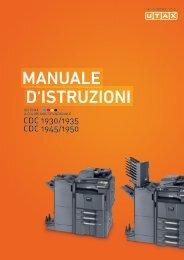 d'IstruzIonI Manuale - Utax