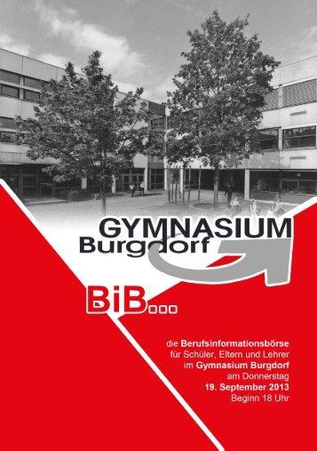 19.09. BIB Berufsinformationsbörse - Gymnasium Burgdorf
