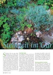 Aus Steinen und Pflanzen lassen sich im - Natürlich