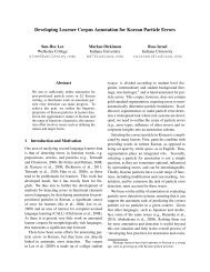 Developing Learner Corpus Annotation for ... - Indiana University