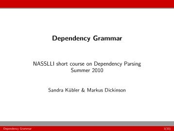 Dependency Grammar