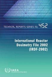 International Reactor Dosimetry File 2002 - IAEA Publications