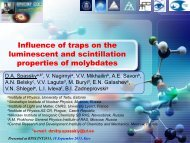 Influence of traps on the luminescent and scintillation properties of ...